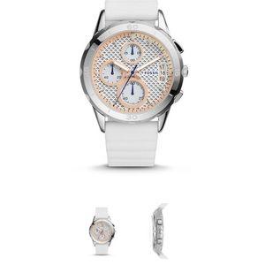Modern Pursuit Chronograph White Silicon Watch